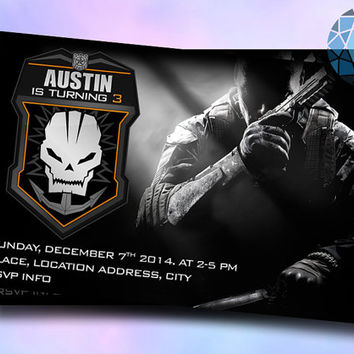 COD Black Ops Invitation on SaphireInvitations