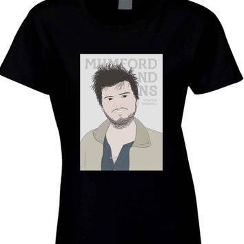 Mumford And Sons Winston Marshall Vektorize  Womens T Shirt