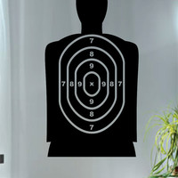 Target Shooting Range Version 1 Guns Decal Sticker Wall Vinyl Decor Art