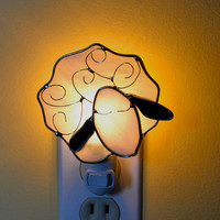 Counting Sheep  Stained Glass Nightlight