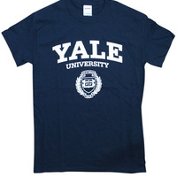 "Arched 'Yale University"" with Logo underneath"