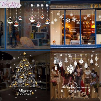 Xmas DIY Wall Sticker Merry Christmas Decoration for Home Window Sticker 2019 Christmas Ornaments New Year 2020 Decor Navidad