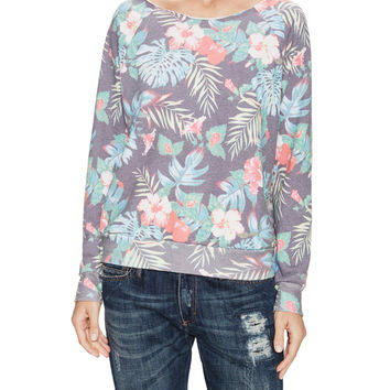 Sol Angeles Women's Floral Raw Pullover -
