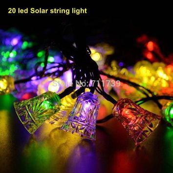 5set 20 led solar light outdoor garden light party string lighting waterproof lamp decoration lights for home Christmas