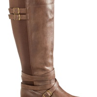 Brown Winona Wide Calf Riding Boot - Brown