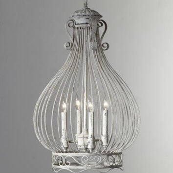 Onion-Shaped Cage Chandelier - Horchow