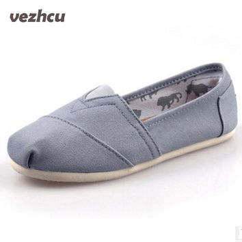 Flats Shoes Men Classic Slip On espadrilles Unisex Men Canvas Shoes Breathable Shoes Big size 35-45 6c130