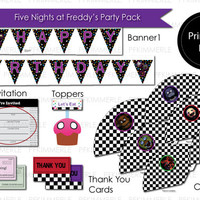 Five Nights at Freddy Printable Party Pack - HUGE BUNDLE