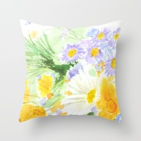 spring flower 2 Throw Pillow by Color And Color
