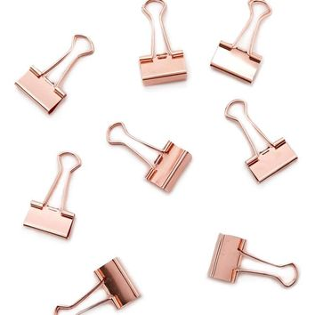 Rose Gold Binder Clip Set