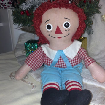 Knickerbocker Raggedy Andy, Vintage Raggedy Andy, Collectible Doll