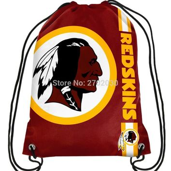 Washington Redskins Drawstring Bags Men Sports Backpack Digital Printing Pouch Customize Bags 35*45cm Sports US Fottball Team