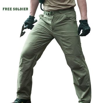 Outdoor Sports Tactical Camping Hiking Climbing Men's Pants Male Summer Thin Breathable Trousers