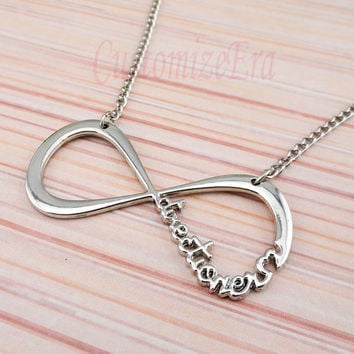 One direction necklaceInfinity necklace by CustomizeEra on Etsy