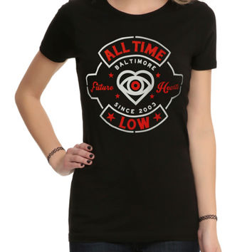 All Time Low Red White Seal Girls T-Shirt