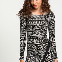 Tribal Print Origami Dress