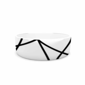 "Trebam ""Paucina v3"" Black White Pet Bowl"