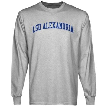 LSU Alexandria Generals Basic Arch Long Sleeve T-Shirt - Ash
