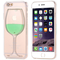 Capa Liquid Wine Glass Case For Apple iPhone 5 5S (Lime Green)