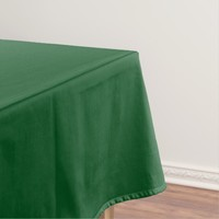 Deep Green Solid Color Tablecloth