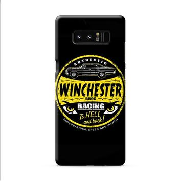 Dean Winchester Supernatural Logo Speed And Power Samsung Galaxy Note 8 case