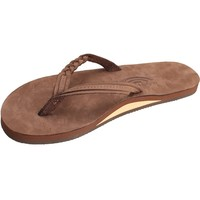 Rainbow Sandals Women's Flirty Braidy Dark Brown Sandal Ladies Medium (6.5-7.5 Women US)