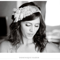 Art Deco Bridal Bandeau- Made to Order (As seen in Rock My Wedding)