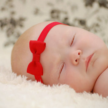 RED Baby Bow Headband. Tiny Red Bow Headband. Baby Hair Accessories. Baby Girls Hair Accessories. Red Baby Headband. Baby Bow Headband. Red