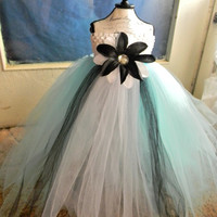 Alice in Wonderland Tutu Dress-Baby Tutu Dress-Toddler Blue Tutu Dress-Tulle Tutu Dress White Tutu Dress-Tutu-Flower Girl Dress-Photo Prop