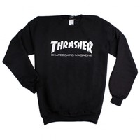 Skate Mag Crewneck in Black by Thrasher Magazine