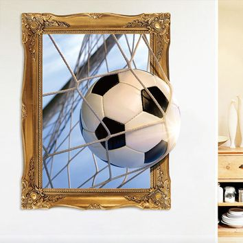 Wall Stickers 3D 3D Football World Cup Sticker Bedroom Dormitory Creative Boy Decorative Sticker