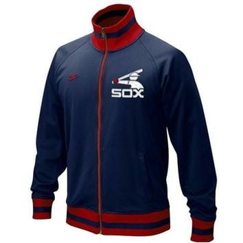 Chicago White Sox Navy Blue Womens Cooperstown Track Jacket By NIKE