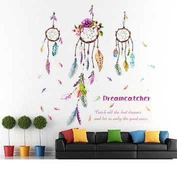 3D Feather Beautiful DIY Mirror Wall Decals Stickers Art Home Room Vinyl Decor