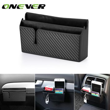 Car Side Pocket Organizer Car Accessory Double Layer Phone Holder for Earphone Phone Sunglass