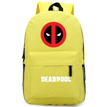 Anime Backpack School Dead Pool Comic Super Hero kawaii cute School Book Bags Laptop Backpack Mochila Feminina Boys Girls Back To School Gift Day Pack AT_60_4