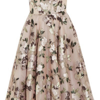 Alexander McQueen - Strapless embroidered silk-blend mesh dress