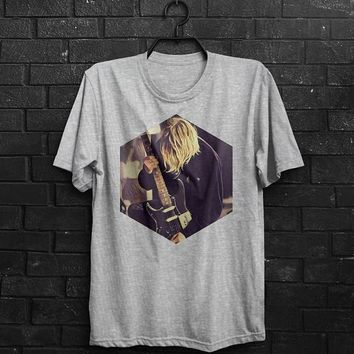 The Nirvana Shirt Men T Shirt Kurt Cobain T-Shirt Man Tee Music Tshirt Birthday Gift For Him Men Clothing T Shirt Gray T Shirt White Shirt