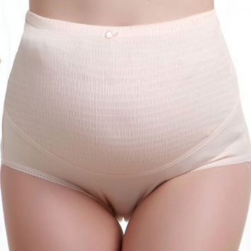 100% Cotton Blend High Waist Pregnant Belly Care Maternity Panties Brief Pregnancy Underwear