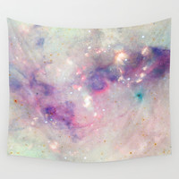 The colors of the galaxy Wall Tapestry by Barruf Designs