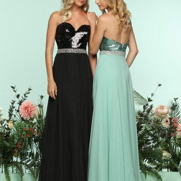 Zoey Grey - 31268 Strapless Sequined Chiffon Evening Dress