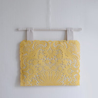 Tom Yellow handbag/shoulder bag, pastel yellow small purse