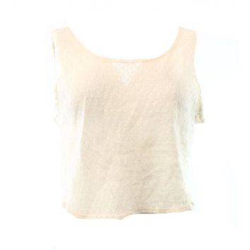 Rubbish Beige Sand Womens Size Small S Scoop-Neck Knit Crop Top DEAL - Walmart.com