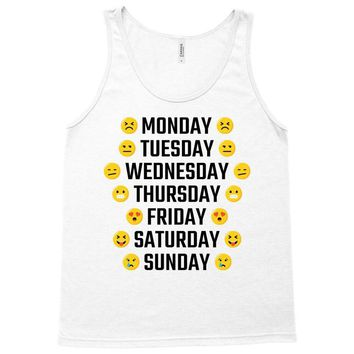 Moods Of The Week Daily Emoji Tank Top