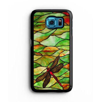 Tiffany Dragonfly Style Stained Glass Samsung S6 s5 s4 S3 Case, Note 3 4 5 Case, iPhone 6s 5s 5c 4s Cases, iPod case, HTC case, Xperia Z3 case, LG G3 Nexus case, iPad cases