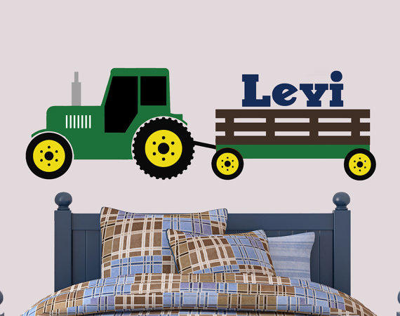John Deere Wall Decor : Tractor wall decal john deere inspired from jen s vinyl