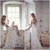 Off the Shoulder Glitter Lace Wedding Dresses Summer Beach Bridal Dresses Gowns