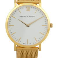 Larsson & Jennings - CM gold-plated watch