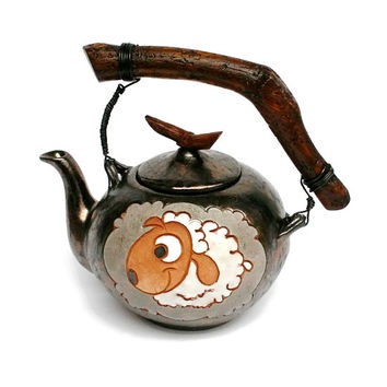 Teapot Sheep, ceramics and pottery, teapots, sheep decor, pottery teapot, unique gifts, teapot gift, pottery tea kattle, chinese teapot, tea