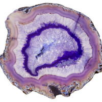 "7"" Agate Slice, Purple, Rocks, Crystals, Minerals & Petrified Wood"