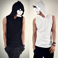 Men Tank Top With Hood